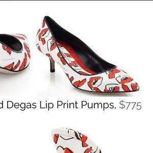 Brian Atwood x Donald Robertson Degas Lips Pumps